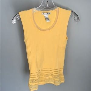 Lillie Rubin Ladies Yellow Sleeveless Blouse